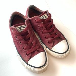 CONVERSE maroon Chuck Taylor all-star sneakers